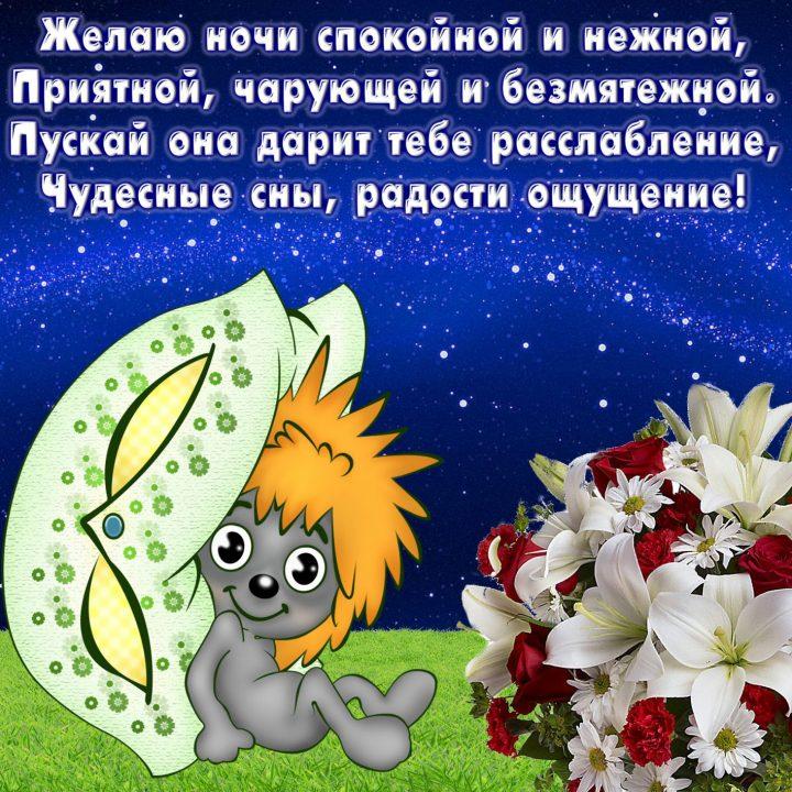 Спокойной ночи картинки в стихах девушке